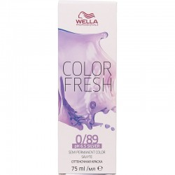 Coloration temporaire Wella Color Fresh 0/89 Perle fumé - 75 ml