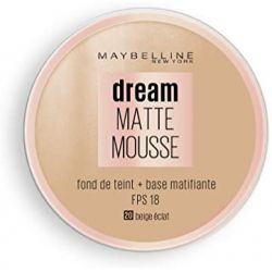 Fond de Teint Dream Mat Mousse - 20 Beige Eclat - Maybelline New York - 18ml