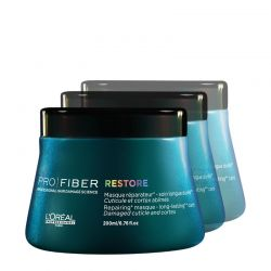 Lot - 3 Masques Pro Fiber Restore - 3 x 200 ml