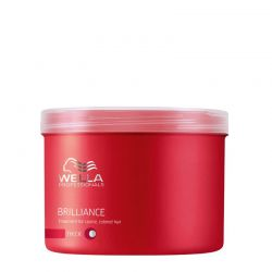 Masque Wella Brilliance - Cheveux Epais - 500 ml