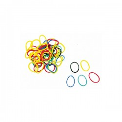 Elastique Mezzo Bracelet mini multicolore - 16 mm - sachet 100 gr