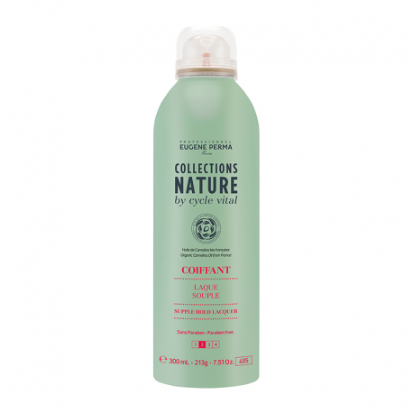 Laque Eugene Perma Collections Nature by Cycle Vital Souple - Coiffant - 300 ml