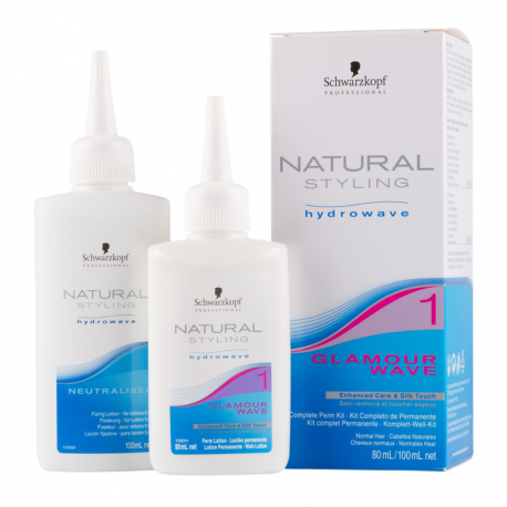 Kit permanente Schwarzkopf Natural Styling Glamour Wave N°1 - 80 ml / 100 ml