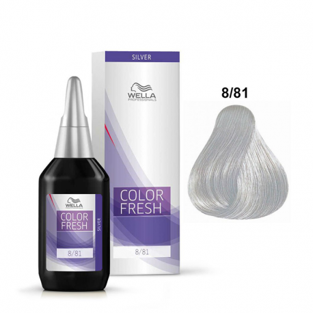 Coloration temporaire Wella Color Fresh 8/81 Blond clair perlé cendré - 75 ml