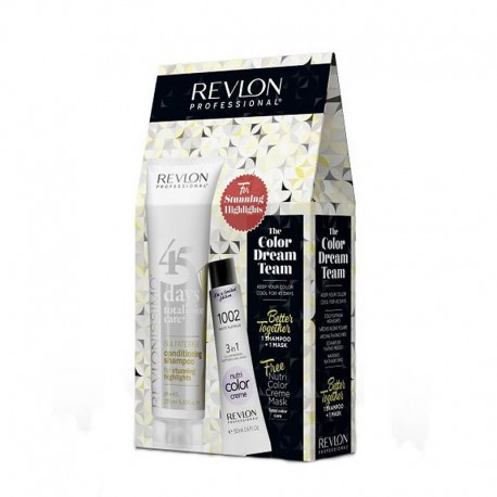Coffret Revlon couleur Dream Team Stunning Highlights + Nutri Color 1002 OFFERT