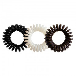 Lot - 3 élastiques Jacques Seban Hair Ring noir-blanc-marron